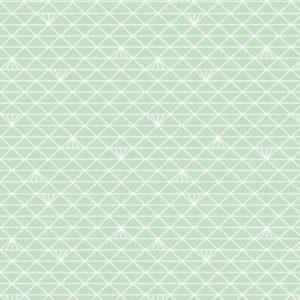 Percale 100% cot 120g 156cm triangle menthe glacé