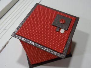 Boite twist -atelier cartonnage Pascale Rigault à la Boutik'Créative de Rives