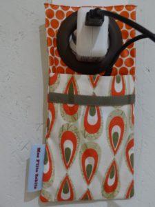 Support chargeur de portable rouille