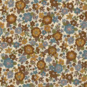 Tissu fleuri Poussière d'or grands motifs