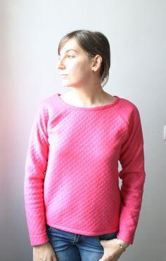 sweat shirt jersey matelassé fushia