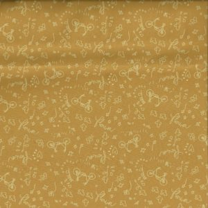 Tissu à bicyclette poussière d'or