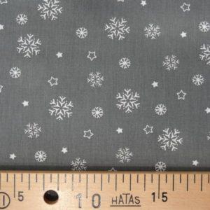 Flocons blancs sur fond gris par 10 cm