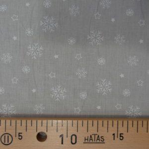 Flocons blancs sur fond gris-lin par 10 cm