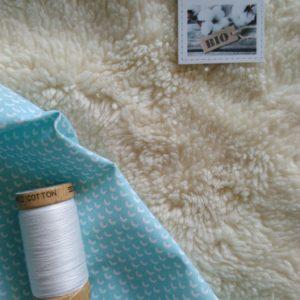 tissu peluche bio type fourrure mouton (x unité de10cm)