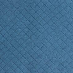 Jersey matelassé bleu canard