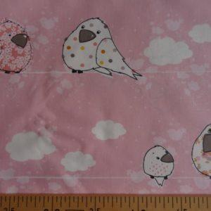 Les oiseaux sur fond rose (x10cm)