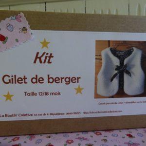 Kit Gilet de Berger 12/18 mois Rose champêtre