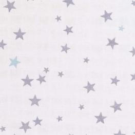 Tissu lange étoiles grise et ciel