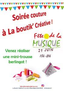 Couture make and take fête de la Musique