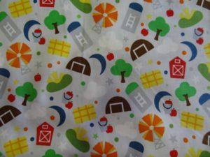 Tissus coton dessin d'enfant