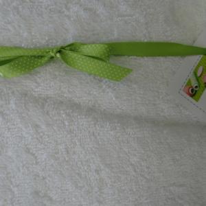 Tissu éponge blanc (10cm)