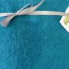 Tissu éponge coton bleu canard
