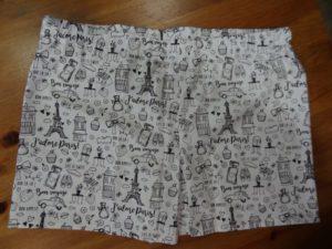 Caleçon adulte Tissu à colorier Paris