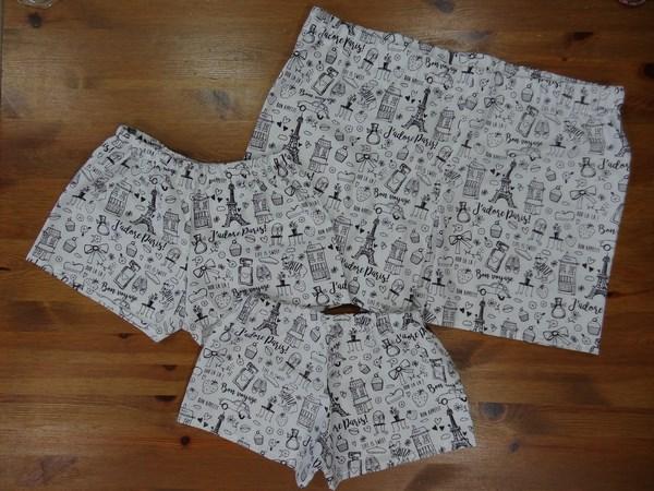 Trio de caleçons Tissu à colorier Paris