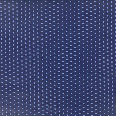 tissu-coton-froufrou-pois-bleu-intense
