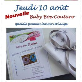 Baby Box Couture spéciale premiers bavoir et lange