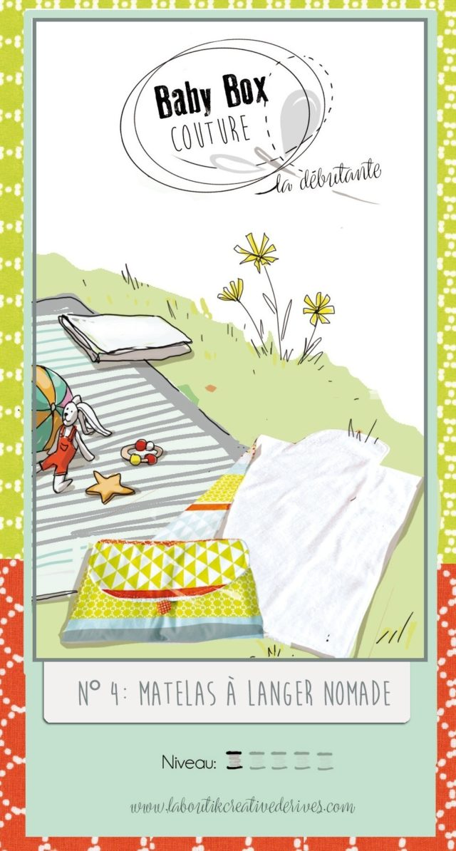 Baby Box N°4 le matelas à langer nomade et les lingettes lavables