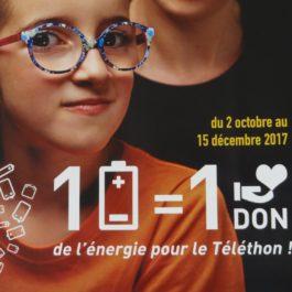 1 pile = 1 don Téléthon 2017