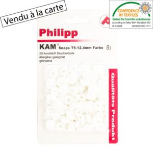 Pressions plastiques type kam blanches