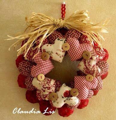 Couronne Coeurs de Noël Claudia Lis