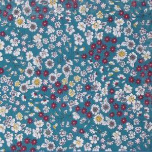 tissu fleuri bora bora (x 10cm)