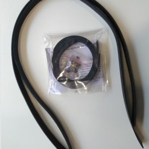 Anses de sac Camélir cuir noir 75cm