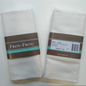 Tissu toile coton FrouFrou coloris Ivoire Nacré