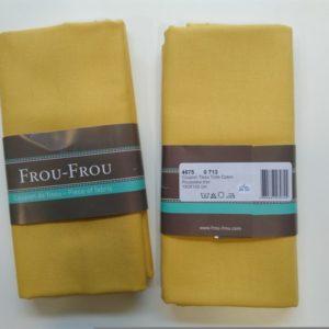 Tissu toile coton FrouFrou Poussière d'Or