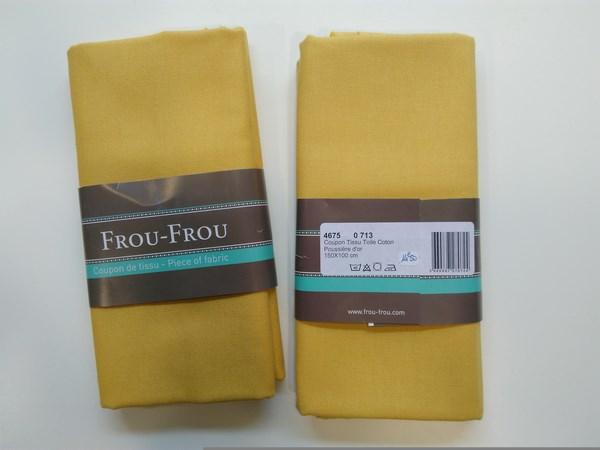 Coupon-tissu-toile-coton-FrouFrou-Poussière-or-713