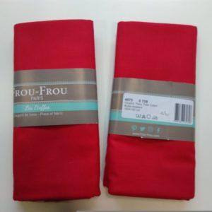 Tissu toile coton FrouFrou Rubis éclatant
