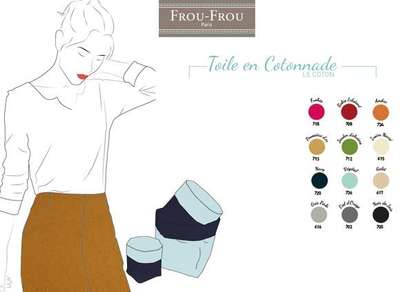 Coupons toiles de coton FrouFrou nuancier