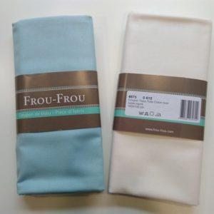 Tissu toile de coton bleu végétal