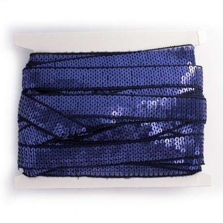 Galon paillette 20mm bleu foncé 2