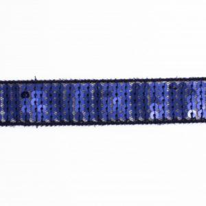 Galon paillettes 20mm bleu foncé