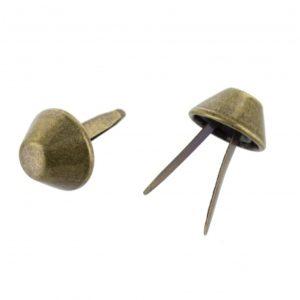 Pied de sac  1,2 x 0,5 cm couleur Bronze