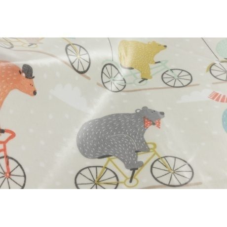 Tissu enduit Fryett's bear bike multicolore 2
