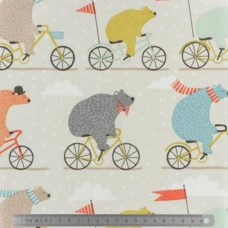 Tissu enduit Fryett's bear bike multicolore