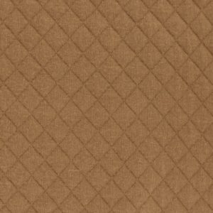 Tissu jersey matelassé France Duval caramel (x 10cm)