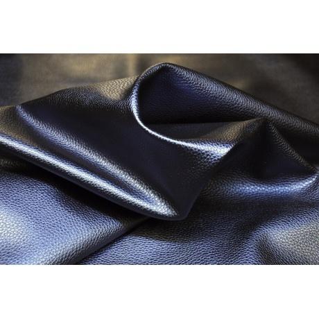Tissu simili cuir irisé marine 2