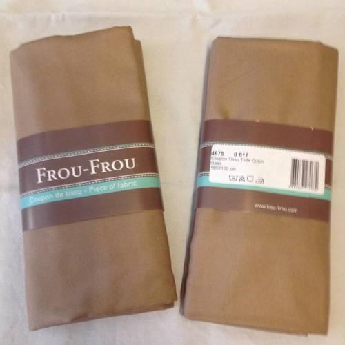 coupon-tissu-toile-coton-FrouFrou-couleur-galet