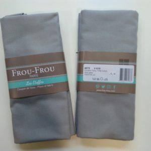 Tissu toile coton FrouFrou Gris perle