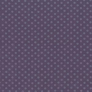 Percale de coton Froufrou violet sage bulles de rêve (x10cm)