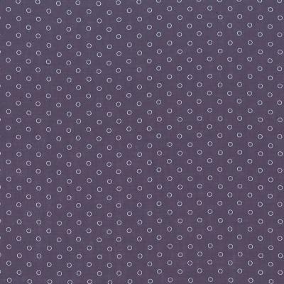 Percale de coton Froufrou violet sage bulles de rêve