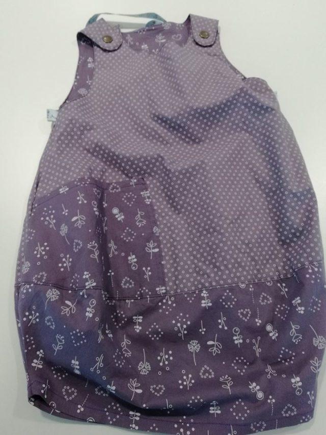 robe scarlett en tissu froufrou violet sage