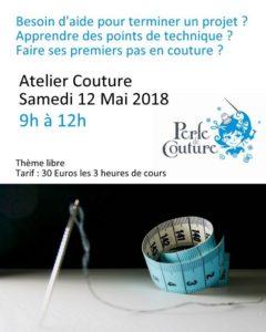 Cours de couture Perle de couture 12 mai matin thème libre