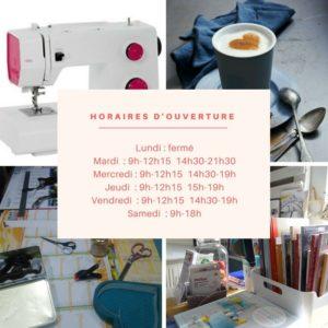 Horaires d'ouverture de la Boutik Créative en mai semaine 4