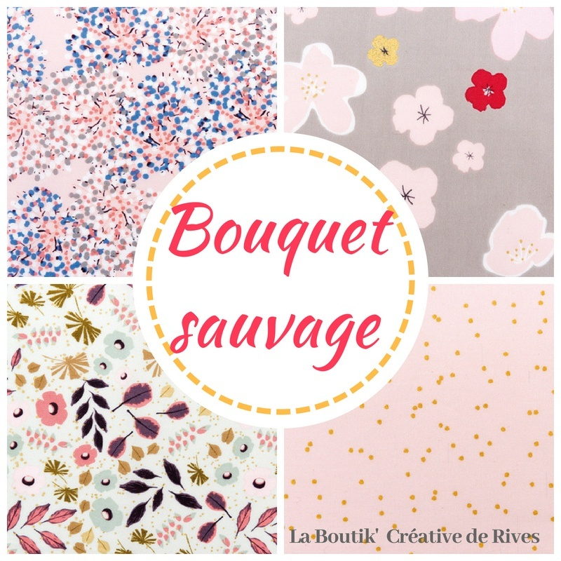 Collection bouquet sauvage tissus coton