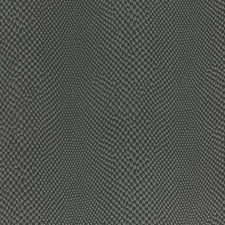 Tissu simili cuir iguane gris foncé