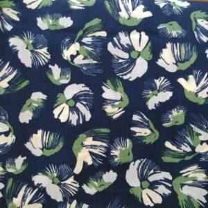 tissu coton aquarelle Navy (x10cm)